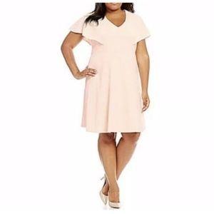NWT Calvin Klein Light Pink Dress CX8C146L - 18W